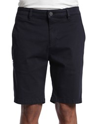 Heritage Nevada Washed Stretch Denim Shorts Navy