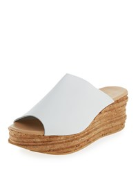 Andre Assous Bernice Leather Wedge Sandal White