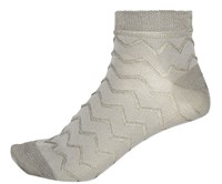 River Island Womens Light Grey Textured Ankle Socks