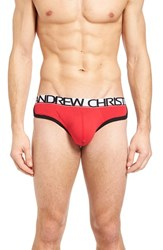 Andrew Christian Men's Retro Show It Briefs Red