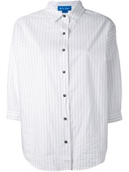 Mih Jeans 'Poets' Pinstripe Shirt White
