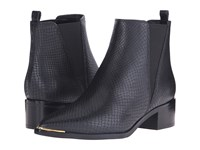Marc Fisher Ltd Yale Black Embossed Leather Women's Dress Pull On Boots