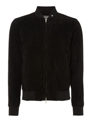 Peter Werth Culford Suede Bomber Jacket Black