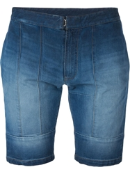 Maison Margiela Washed Denim Shorts Blue