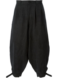 Aganovich Cropped Balloon Trousers Black