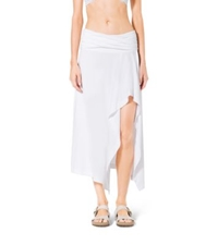 Michael Kors Draped Cover Up Skirt White
