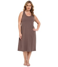 Jockey Plus Size 47 Cotton Racerback Gown Truffle Women's Pajama Brown
