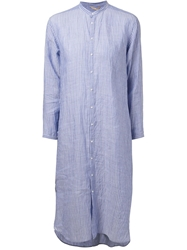 Arts And Science Wrinkled Shirt Dress Blue