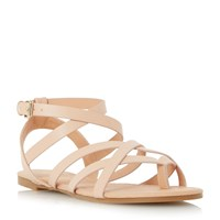 Head Over Heels Lavella Strappy Gladiator Sandals Nude