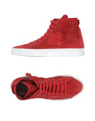 Twin Set Simona Barbieri Footwear High Tops And Trainers Women Brick Red