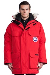 Canada Goose Expedition Parka With Coyote Fur Trim Red