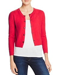 Aqua Snap Front Cashmere Cardigan Apple Red