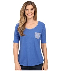 Aventura Clothing Delaney Elbow Sleeve Blue Yonder Women's T Shirt
