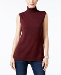 Charter Club Cashmere Sleeveless Turtleneck Sweater Only At Macy's Spiced