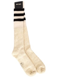 Palm Angels Striped Terrycloth Socks Metallic