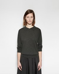 Margaret Howell Polo Collar Jumper Forest Green