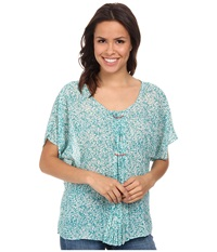 Stetson 9575 Poly Chiffon Peasant Blouse Blue Women's Blouse