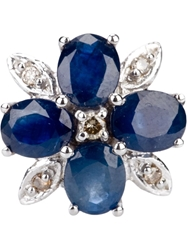 Rewind Vintage Affairs Diamond And Sapphire 14Ct Gold Ring Blue