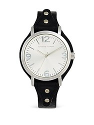 Adrienne Vittadini Sport Bar Hour Marker Watch Black