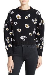 Rebecca Taylor Women's Brushed Floral Wool Blend Sweater