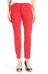 Women's Nydj 'Clarissa' Colored Stretch Ankle Skinny Jeans Cassis Red
