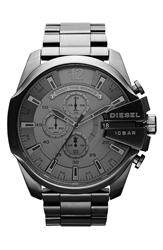 Diesel 'Mega Chief' Bracelet Watch 51Mm Gunmetal