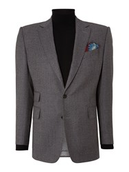 Chester Barrie Albemarle Plain Notch Collar Tailored Fit Suit Grey