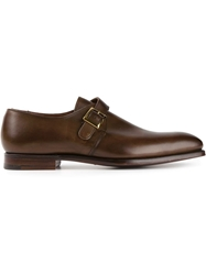 Crockett Jones Crockett And Jones 'Saville' Monk Shoes Brown