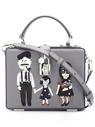 Dolce And Gabbana Small 'Dolce' Box Tote Grey
