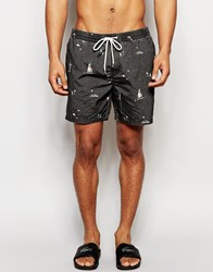 Globe Mains 16.5 Inch Swim Short Black
