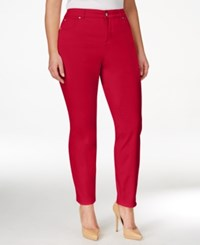 Charter Club Plus Size Bristol Tummy Control Ankle Jeans Only At Macy's Red Barn
