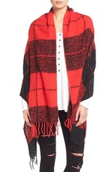 Junior Women's David And Young Plaid Wrap