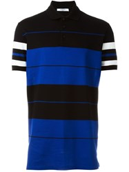 Givenchy Colour Block Polo Shirt Blue