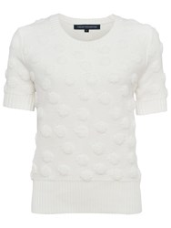 French Connection Fast Loopy Polka Jumper Summer White