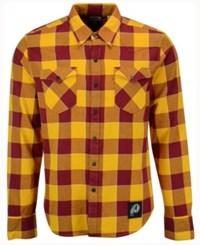 Levi's Men's Washington Redskins Plaid Barstow Western Shirt Burgundy