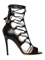 Etro 105Mm Suede And Leather Cage Sandals