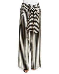 Monse Wide Leg Striped Pants Black White Women's
