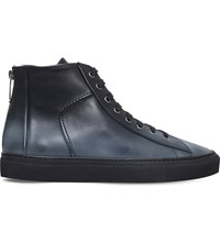 Kg By Kurt Geiger Clarence Leather Trainers Black