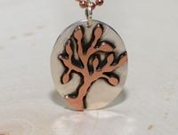 Tree Pendant In Copper And Sterling Silver Tree Of By Nicilaskin