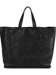 Ralph Lauren 'Perf Easy' Perforated Shopper Tote Bag Black