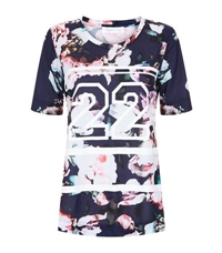 Finders Keepers Move On Up Floral Basketball T Shirt