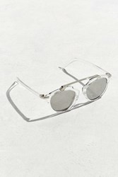 Urban Outfitters Uo Plastic Brow Bar Sunglasses Clear