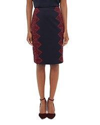 Ted Baker Queeny Lace Detail Skirt Navy