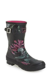 Joules Women's 'Molly' Rain Boot Black Hedgerow
