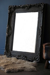 Silver And Dark Pewter Ornate Mirror