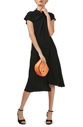 Topshop Women's Origami Drape Neck Midi Dress