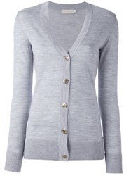 Tory Burch 'Simone' Cardigan Grey