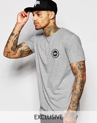 Hype T Shirt With Crest Logo Gray