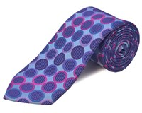 Double Two Silk Tie Lilac