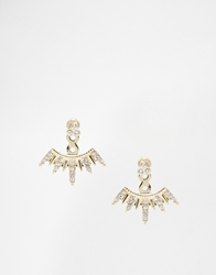 Designsix Graduated Spike Through And Through Stud Earrings Gold